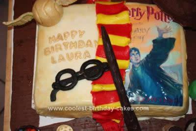 Homemade Harry Potter Birthday Cake Design