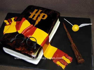 Homemade Harry Potter Book Cake