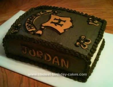 Homemade Harry Potter Cake