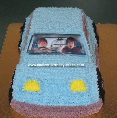 Homemade Harry Potter Car Cake