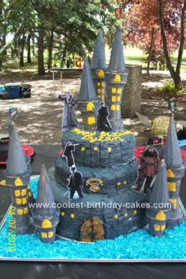 Homemade Harry Potter Castle Cake Design