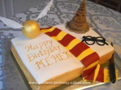 Homemade Harry Potter Monster Book Cake