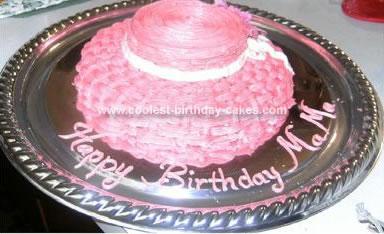 Homemade Hat Birthday Cake