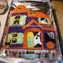 Homemade Haunted House Birthday Cake