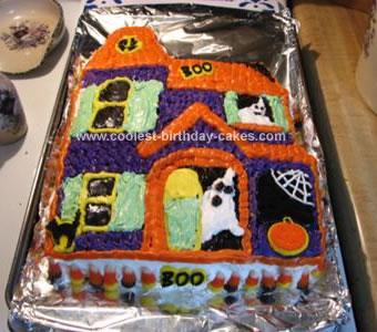 Fantastic Coolest Haunted House Birthday Cake Funny Birthday Cards Online Inifofree Goldxyz