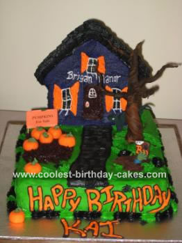 Excellent Coolest Haunted House Cake Funny Birthday Cards Online Inifofree Goldxyz