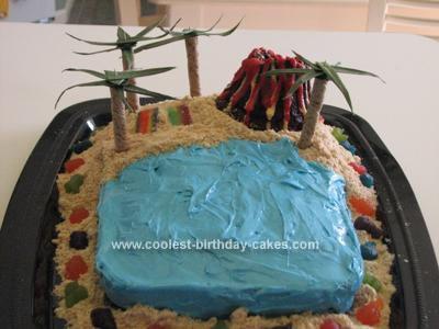 Homemade Hawaii Beach Cake