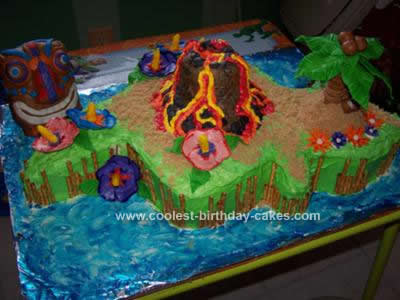 Coolest Hawaii Island Cake