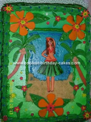 I Got This Cake Idea For A Hawaiian Luau Birthday From Central When First Saw It Thought That Would Go Great With The Theme