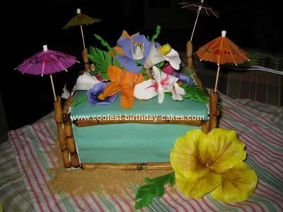 Coolest Hawaiian Luau Birthday Cake