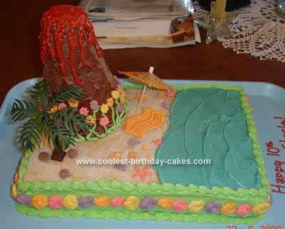 Sensational Coolest Hawaiian Luau Birthday Cake Funny Birthday Cards Online Elaedamsfinfo