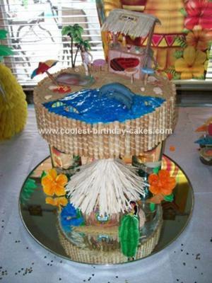 Homemade Hawaiian Luau Cake