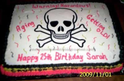 Homemade Hazardous Skull Birthday Cake