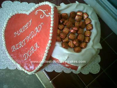 Homemade Heart Shaped Box Cake