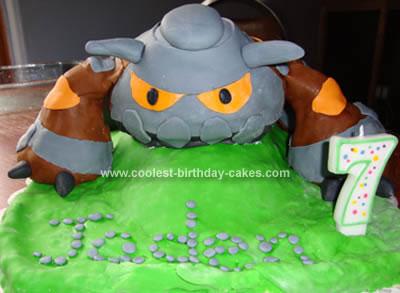 Homemade  Heatran Pokemon Cake