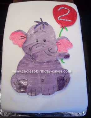 Homemade Heffalump Birthday Cake