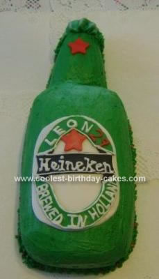 Wondrous Coolest Heineken Beer Bottle Birthday Cake Personalised Birthday Cards Epsylily Jamesorg