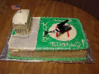 Homemade Helicopter Birthday Cake