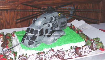 Helicopter USMC Retirement Cake