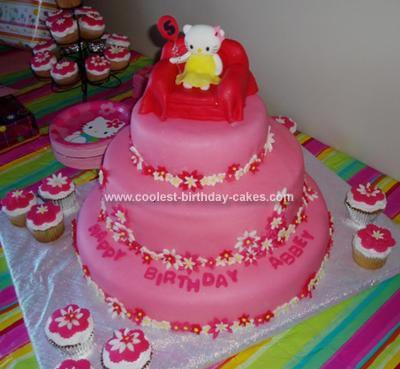 Homemade Hello Kitty Cake