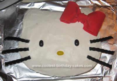Homemade Hello Kitty Cake Idea