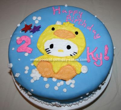Homemade Hello Kitty Ducky Cake