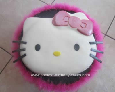 Coolest Hello Kitty Fondant Birthday Cake