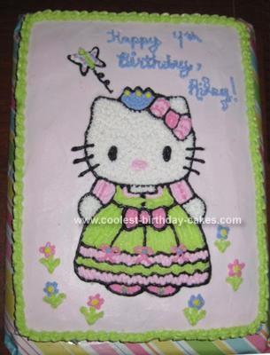 Homemade Hello Kitty Princess Cake