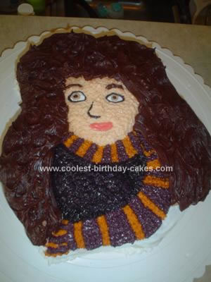 Homemade Hermione from Harry Potter Cake