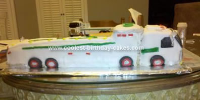Homemade Hess Truck Birthday Cake