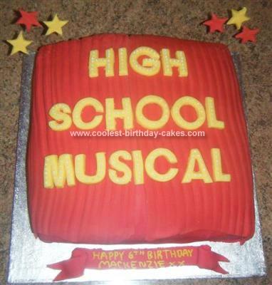 Homemade High School Musical Birthday Cake