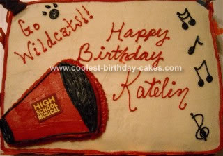 Homemade High School Musical Cake