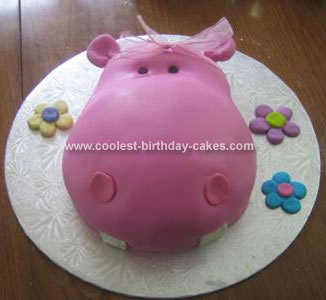 Homemade Hippo Birthday Cake