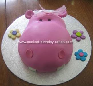 Homemade Hippo Birthday Cake