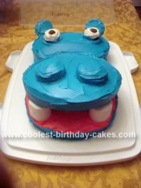Homemade Hippo Head Cake