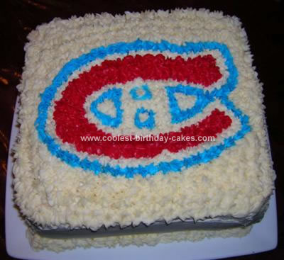 Homemade Hockey Cake