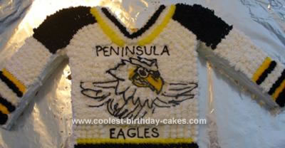 Homemade Hockey Jersey Cake