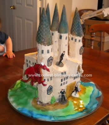Homemade Hogwarts Birthday Cake Design