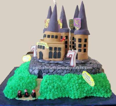 Homemade Hogwarts Cake Design