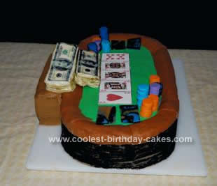 Homemade Holdem Poker Table Cake