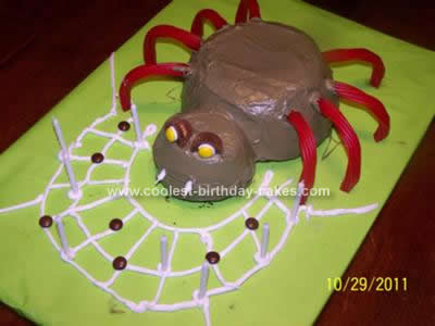 Homemade Holloween Spider Cake