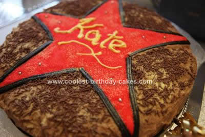 Homemade Hollywood Birthday Cake