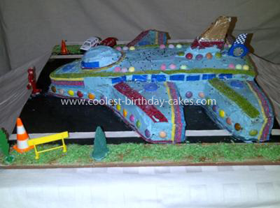 Homemade Airplane Cake