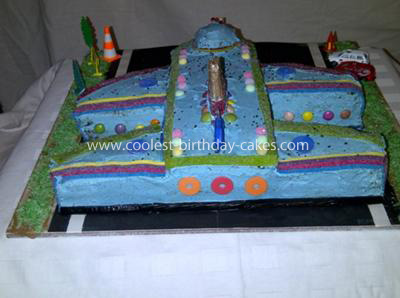 Homemade Airplane Cake