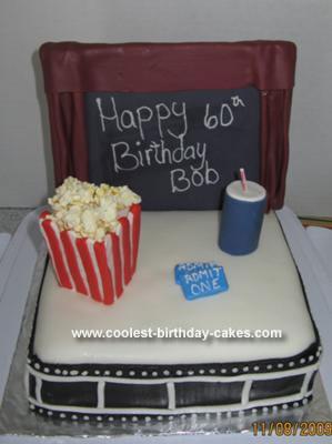 Homemade At the Movies Birthday Cake