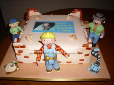 Homemade Bob the Builder Birthday Cake