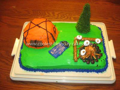 Coolest Homemade Camping Cake