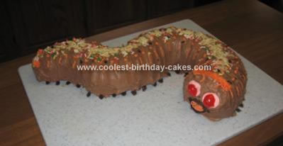Homemade Caterpillar Birthday Cake