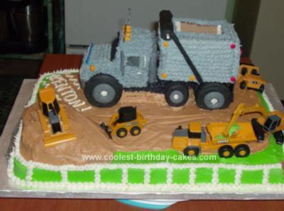Homemade Construction Birthday Cake