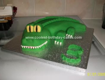 Homemade Croc Birthday Cake